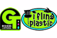 GT Designs & Apparel / I Fling Plastic Logo